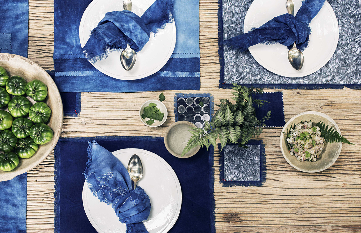 Slider set de Table indigo