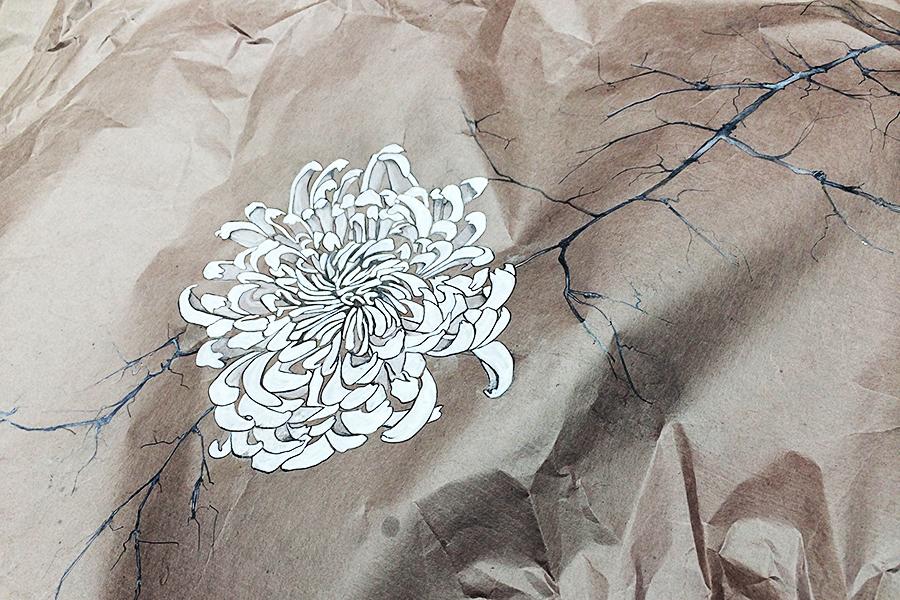 travail sur papier peinture