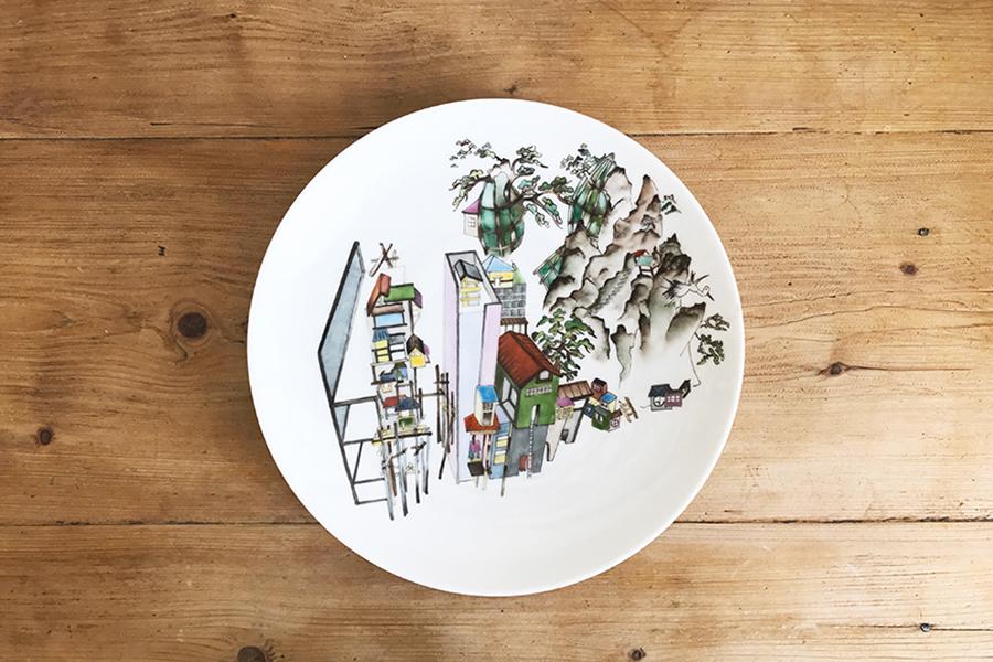 Urban-Nature-Peinture-sur-porcelaine-Valerie-Laudier-Otsuki-Sama
