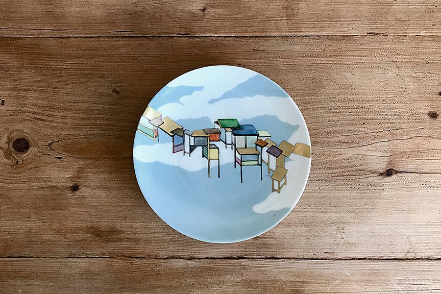 Urban-Sky-Peinture-sur-porcelaine-Valerie-Laudier-Otsuki-Sama